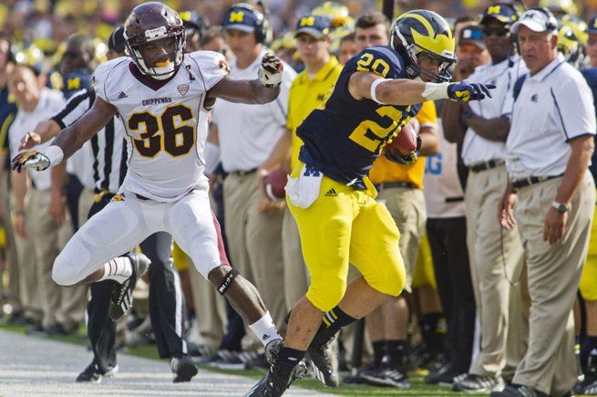 Drake Johnson sustained a torn ACL in Michigan's opening 59-9 win over Central Michigan.