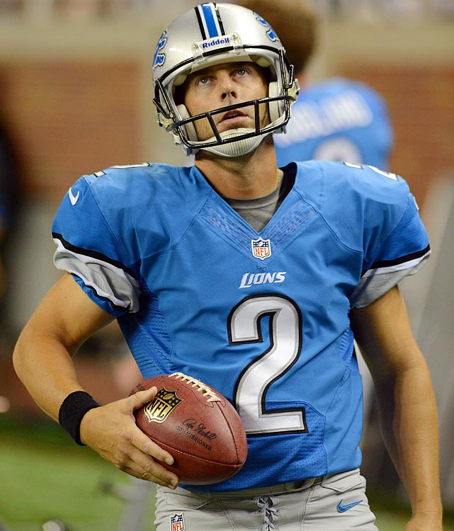 For the first time in 21 years, the Lions won't have Jason Hanson kicking field goals for them. They have replaced him with another long-time veteran, David Akers, who is coming off his worst NFL season. But more to the point, the Lions just don't have the talent at running back to get the job done.