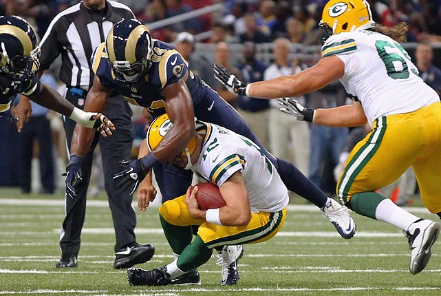 Aaron Rodgers was sacked an alarming 51 times last season. Now the Packers must try to keep their franchise quarterback upright without left tackle Bryan Bulaga (out for the season).
