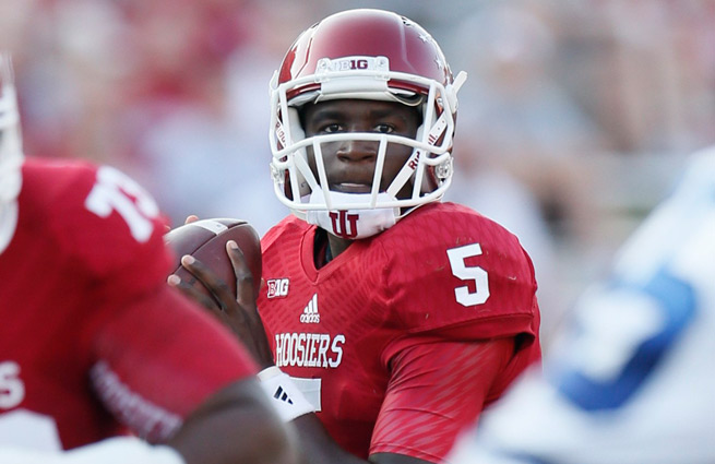 Tre Roberson started Saturday's game for IU, but two other quarterbacks also played for the Hoosiers.