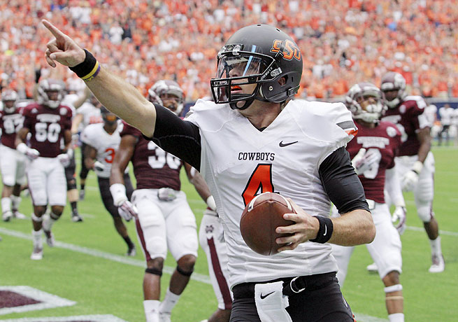 J.W. Walsh led Oklahoma State to a 21-3 victory over Mississippi State last weekend.