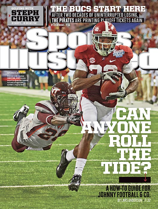 Once again, the Crimson Tide roll into the college football season as the prohibitive BCS favorites. They have a coach, Nick Saban, who is known for getting the most out of his players. They have a roster loaded with future NFL talent and other breakout players, like wide receiver Christion Jones, who scored three touchdown in the Tide's Week 1 victory over Virginia Tech and is featured on the regional cover of this week's SI. In this issue, Lars Anderson reveals how opponents who are smart, willing and armed with the right personnel can take eight simple steps to beat the reigning champs.