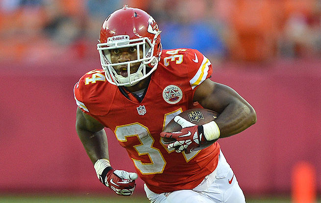 Knile Davis will be waiting to step in if Jamaal Charles misses any time with injuries this season.