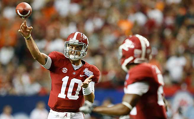 AJ McCarron threw a school-record 30 touchdowns last season in leading 'Bama to back-to-back titles.