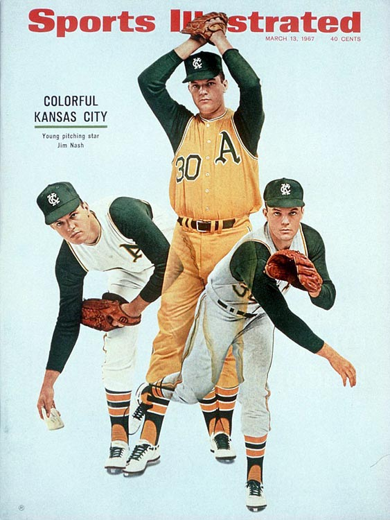 The Athletics moved to Kansas City in 1955 a losing team, and after 13 years there, they left without a single winning season. Ironically, the A's would enjoy nine consecutive winning seasons upon moving to Oakland, including three consecutive World Series championships.