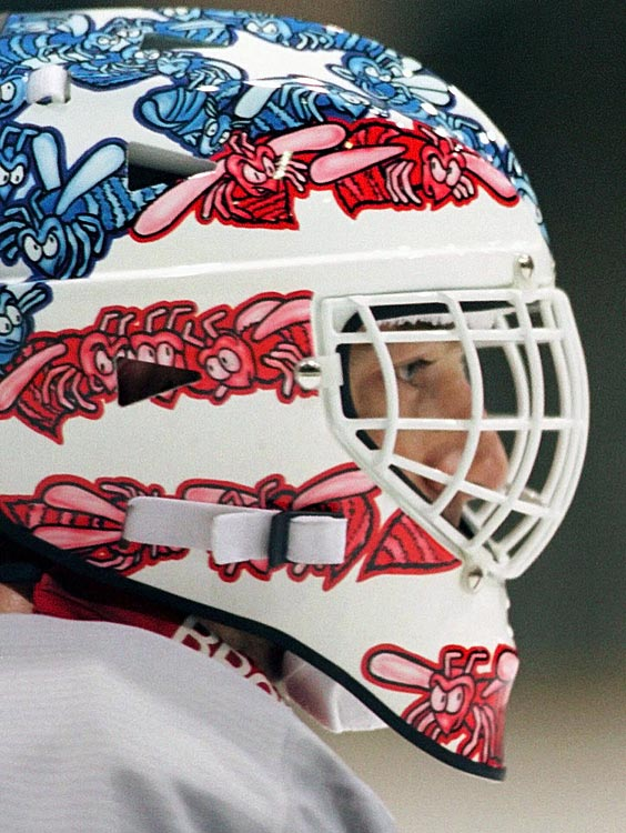 Beezer sported a distinctive lid as a member of the U.S. Olympic Hockey Team at the 1998 Nagano Winter Games. Alas, he appeared in only one game, for all of one minute, as Team USA failed to medal.