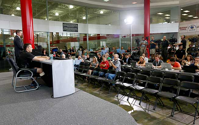 After being bedridden, Tony Stewart longs for racing so much he even misses the media hordes.