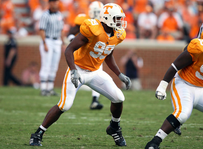 Former Tennessee defensive end Ben Martin (99) is among players suing the NCAA over concussions.