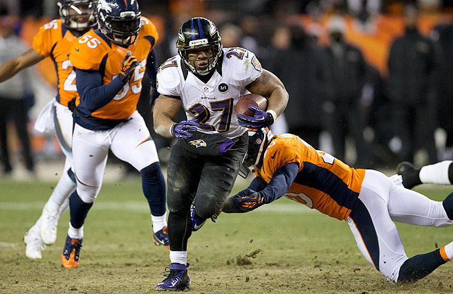 The Ravens went 1-1 against the Broncos in 2012, knocking Denver out in the AFC Divisional round.