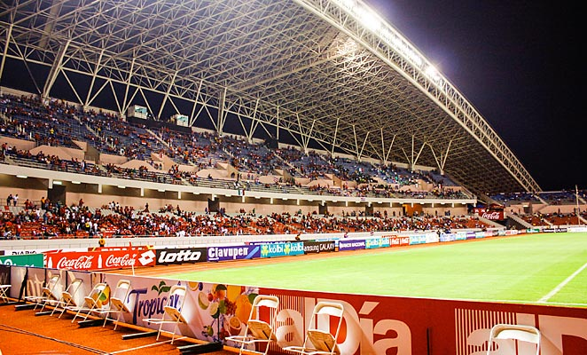 The U.S. will face Costa Rica at the Chinese-built National Stadium in San Jose.