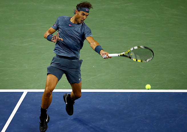 Rafael Nadal won the first eight games of Wednesday's match and coasted to an easy win.