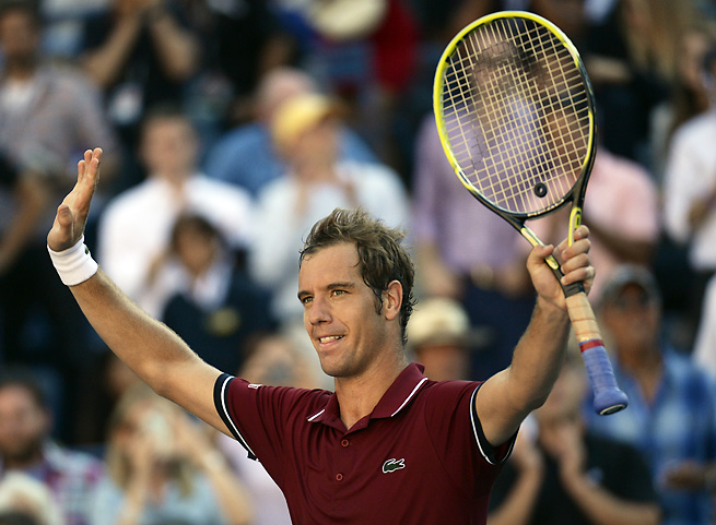 Richard Gasquet won his second consecutive five-set match in a thriller against David Ferrer.