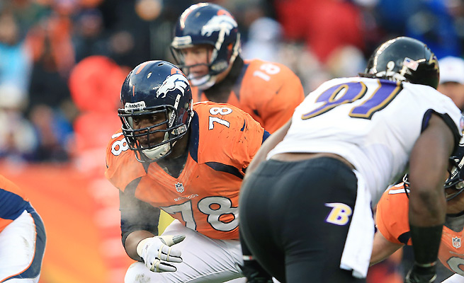 All-Pro left tackle Ryan Clady will have to handle the Ravens' Elvis Dumervil and Terrell Suggs.