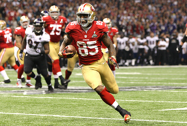 Vernon Davis made 41 receptions for 548 yards and caught five touchdowns for the 49ers last season.