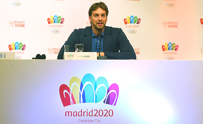 Spaniard Pau Gasol has lent his support to help Madrid land the 2020 Summer Olympics.