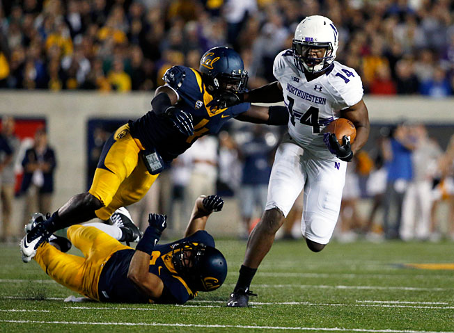 Receiver Christian Jones (14) and Northwestern took down an upstart Cal team on the road in Week 1.