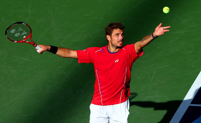 Stanislas Wawrinka defeated defending champion Andy Murray in straight sets in the quarterfinals.