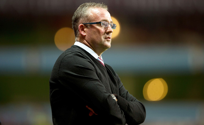 Paul Lambert was upset that Aston Villa was not awarded a penalty against Chelsea in August.