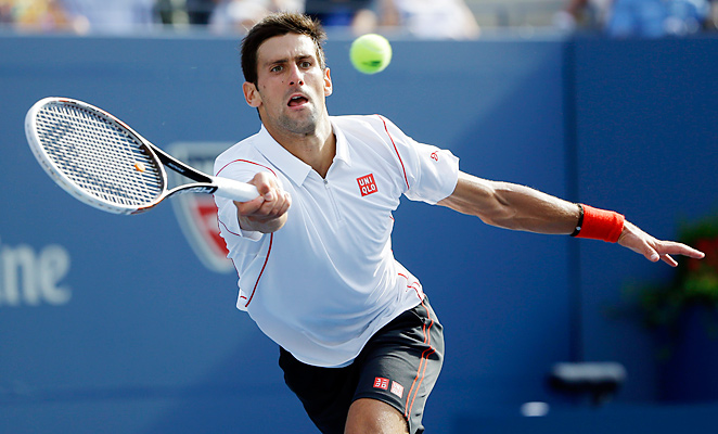 Novak Djokovic took all he could handle from Stanislas Wawrinksa before winning the last five points.