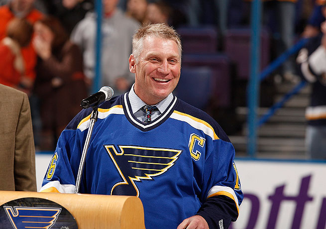 Brett Hull spent 11 seasons during his Hall of Fame career with the Blues.