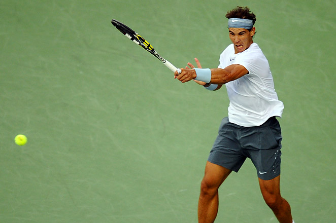 Rafael Nadal will meet Novak Djokovic for an Open-era record 37th time on Monday evening.