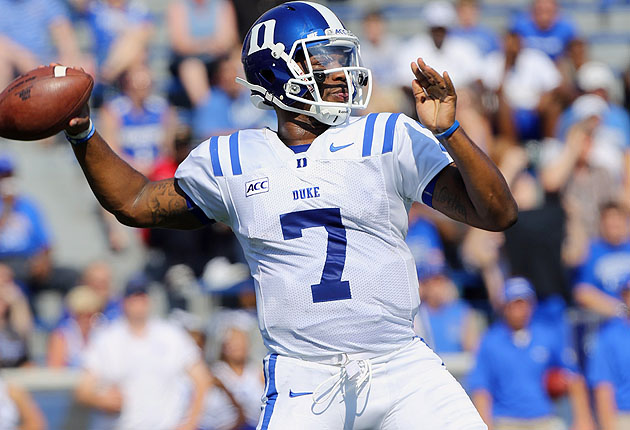 Boone broke his collarbone in the second quarter of Duke's 28-14 victory over Memphis.