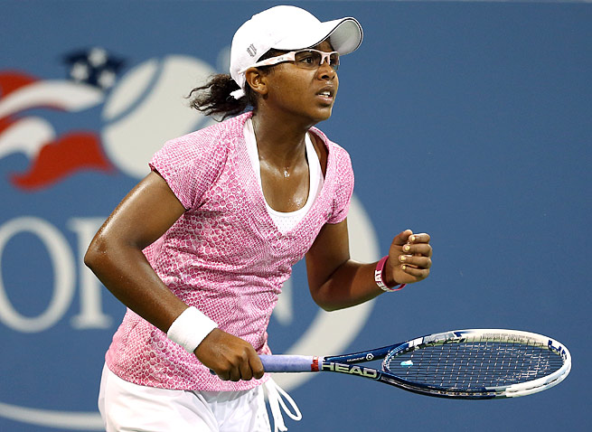 Victoria Duval, 17, upset 2011 U.S. champion Sam Stosur before losing to Daniela Hantuchova.