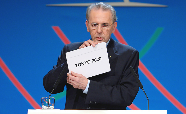 One of Jacques Rogge's last acts as IOC president was to award the 2020 Olympics to Tokyo.