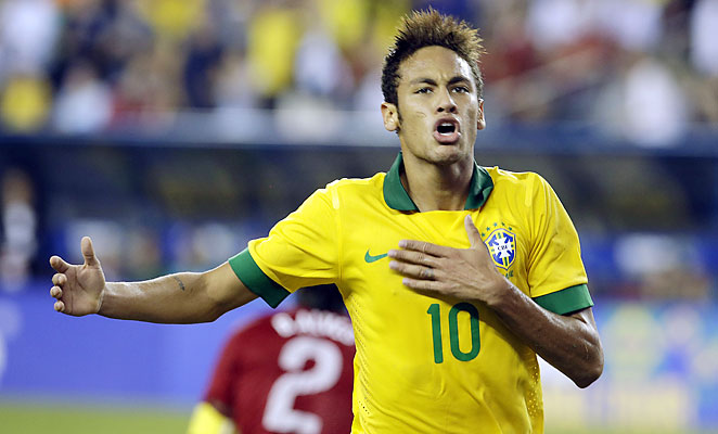Neymar scored in the first half of a 3-1 win for Brazil over Portugal at Gillette Stadium.