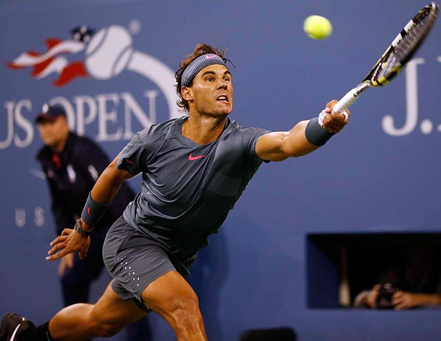 """Nadal hits a forehand return during his victory over Djokovic at the U.S. Open on Sept. 9. The intense rivalry between the two men -- who have now met on the court 37 times -- was highlighted in the final by a 54-shot rally in the second set. In 2010, Nadal, who is from Spain, defeated Djokovic, who is from Serbia, for his first U.S. Open championship, while Djokovic returned the favor by beating Nadal for the title one year later. """"Playing against Novak is a very special feeling,"""" Nadal said after the match. """"Probably nobody brings my game to [the] limit like Novak."""""""
