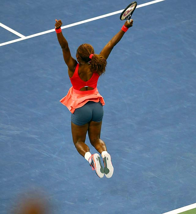 Top-seeded Serena Williams celebrates her 17th Grand Slam championship after defeating second-seeded Victoria Azarenka 7-5, 6-7, 6-1 in the Women's Singles final at the U.S Open on Sept. 8. The title is the fifth at the tournament for Williams, 31, who also won in 2012.
