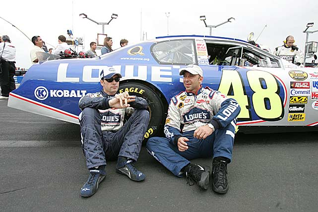 """Johnson won his first Daytona 500 in 2006 even though his crew chief had been sent home, suspended for four races, fined $25,000 and put on probation for the season after the rear window of his Chevy was found to have a movable device that illegally improved the car's aerodynamics. Knaus has been a penalty magnet, drawing nine, including four suspensions between March 2001 and March 2012 for such """"innovations"""" as illegal shocks, C-posts and fenders, among other things."""