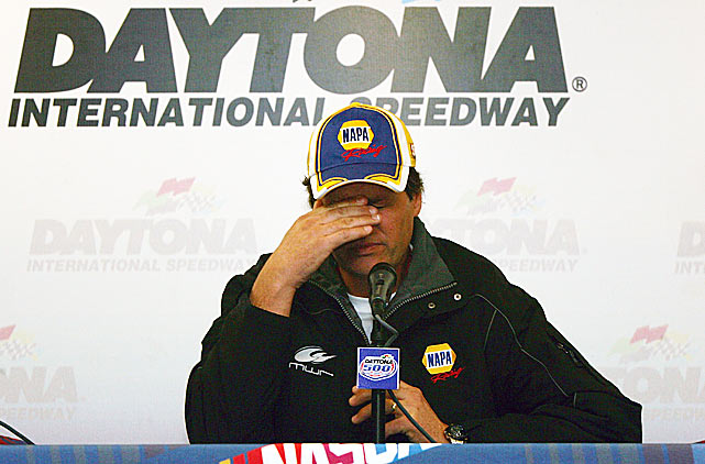 After qualifying for the 2007 Daytona 500, Waltrip's Toyota was found to have been running on illegal fuel that was reported to be laced with rocket fuel, jet fuel or an oxygenator. Whatever. NASCAR suspended Waltrip's crew chief indefinitely, seized his car and fined his team 100 points and $100,000. For good measure, the crew chiefs of four other teams were suspended for lesser violations at that year's Great American Race.