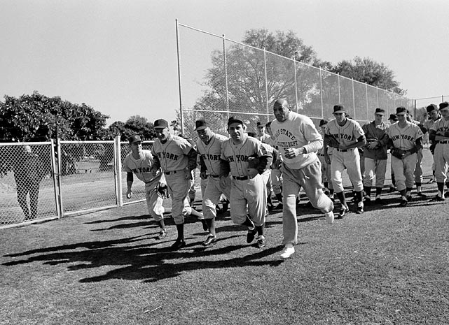 The New York Mets started their spring training Feb. 27, 1965 with Owens leading the pack in a running exercise.