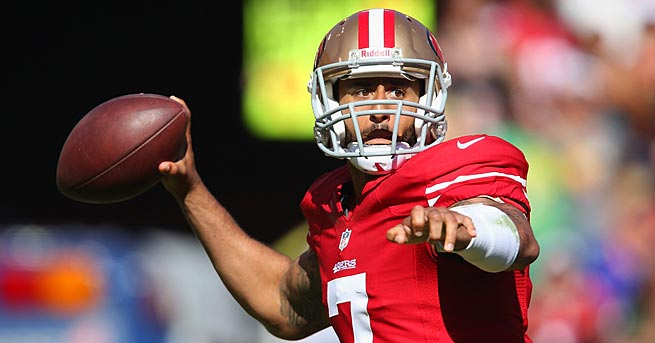 Colin Kaepernick threw for over 400 yards in his opening game, making his fantasy owners very happy.