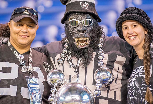 The usual monkeyshines at Lucas Oil Stadium in Indianapolis.