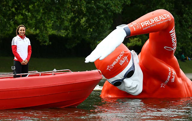 In other British watersports news, English track and field star Jessica Ennis-Hill, the PruHealth Vitality Ambassador, introduced Victor, who looks suspiciously like an Engineer from the sci-fi epic <italics>Prometheus</italics>, to the course in London's famed Hyde Park, much to the alarm of 8,500 competitors.