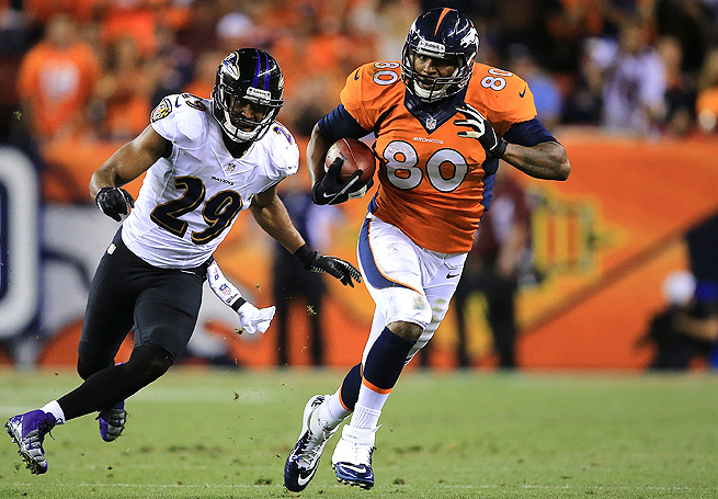 Julius Thomas caught five passes for 110 yards and two touchdowns against the Ravens in Week 1.