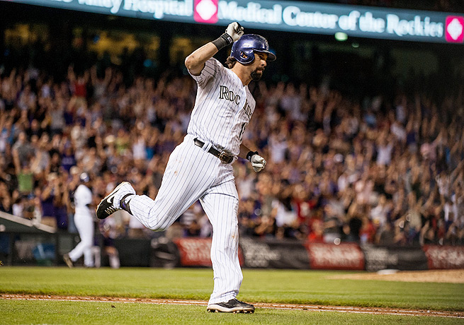 Todd Helton has spent the entirety of his 17-year career with the Rockies in Colorado.