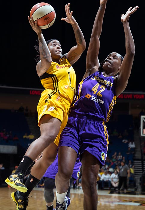 "While it's true that an improvement would be expected in the 5'7"" guard's second season, Williams has become a more accurate shooter, which has helped increase her average to 15.9 ppg from 10.5 last season. She also set a WNBA single-game record with 51 points with a 98-65 win over the Silver Stars."