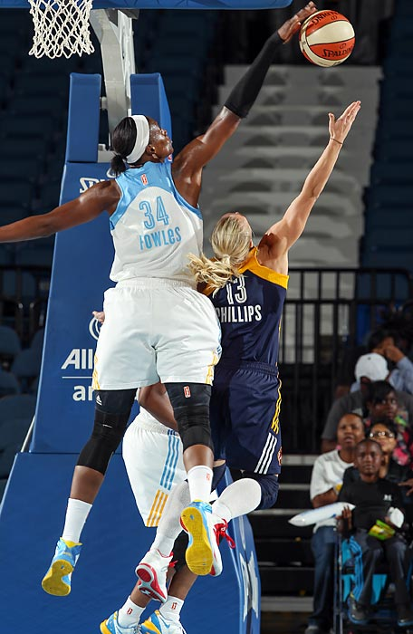"While Angel McCoughtry also deserves to be mentioned in this category, the 6'6"" Fowles ranks second in the league in blocks (2.5) and alters many more shots. She was also named the league's top defender in 2011."