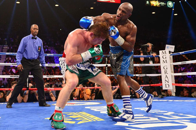 Floyd Mayweather improved to 45-0 with his majority decision victory against Canelo Alvarez.