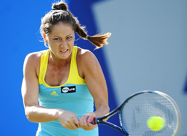 Bojana Jovanovski will face American qualifier Vania King in the second round of the Guangzhou Open.
