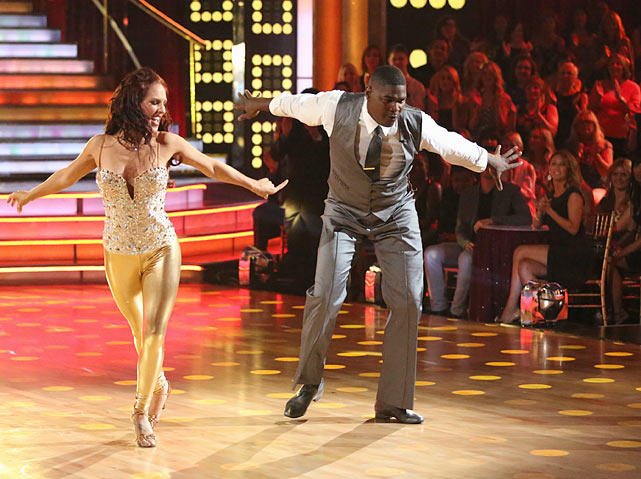"""The former NFL wide reciever and ESPN commentator danced the cha-cha with partner Sharna Burgess during the season premiere of """"Dancing with the Stars"""" on Sept. 16, 2013. Here's a look at the previous appearances by sports figures on the show and how they fared."""