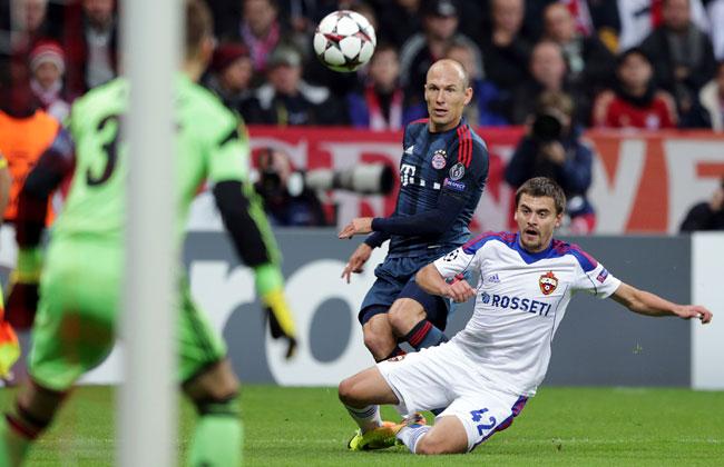 Arjen Robben scored Bayern Munich's third goal of the match.