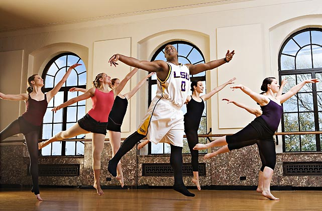 If Glen Davis really is a Big Baby, then he's the most graceful baby that ever lived. Here, as a student at Louisiana State, the power forward works on his arabesques with some local ballerinas.