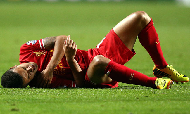 Philippe Coutinho was hurt during Liverpool's match against Swansea on Monday.