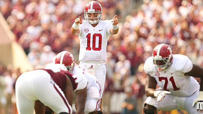 Often overshadowed by Johnny Manziel, AJ McCarron tossed four TDs in leading 'Bama over Texas A&M.
