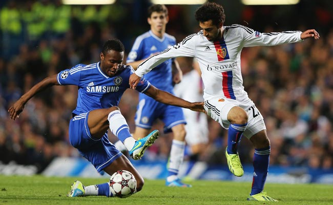 Mohamed Salah scored Basel's first goal in the second half, tying the score, 1-1.