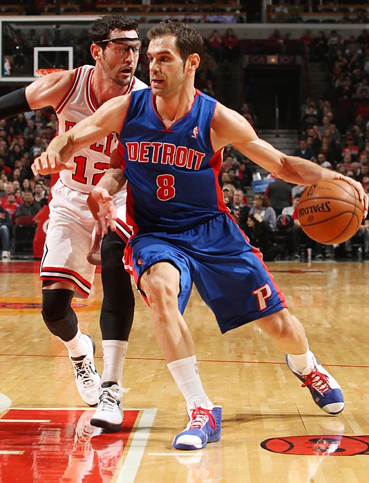Calderon left the Pistons to sign with the Mavericks in the offseason.